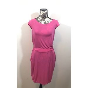 NWOT ATHLETA pink dress with cinched waist